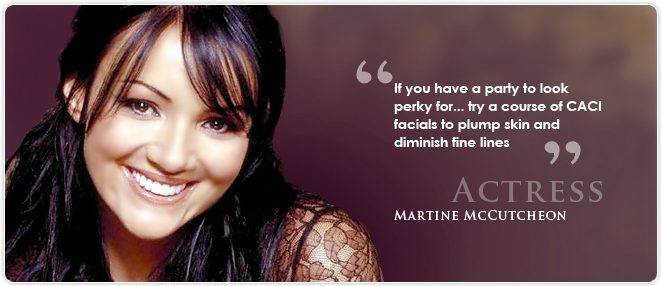 Martine McCutcheon endorses CACI